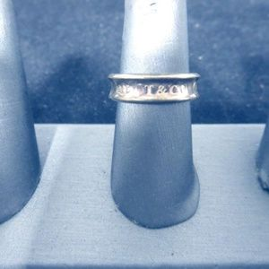 Tiffany & Co. 925 Silver 1837 Ring 5.52g Sz 8